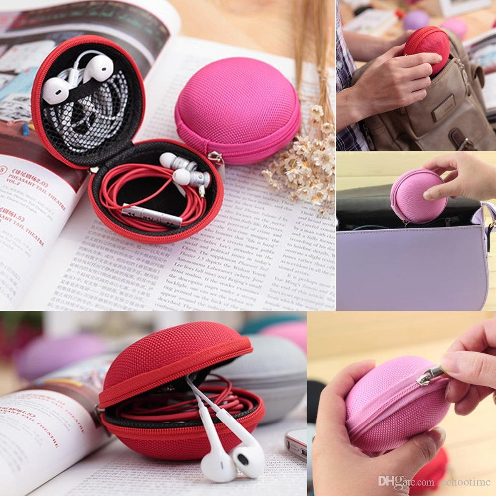 Big Sale!! Zipper Bag Earphone Cable Mini Box SD Card Portable Coin Purse Headphone Key Bag Carrying Pouch Pocket Case Cover Storage