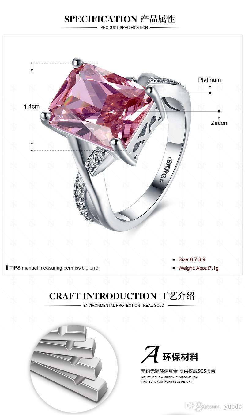 Moda jóias novo anel de casal 925 prata Fit Pandora cristal feminino de anéis Swarovski
