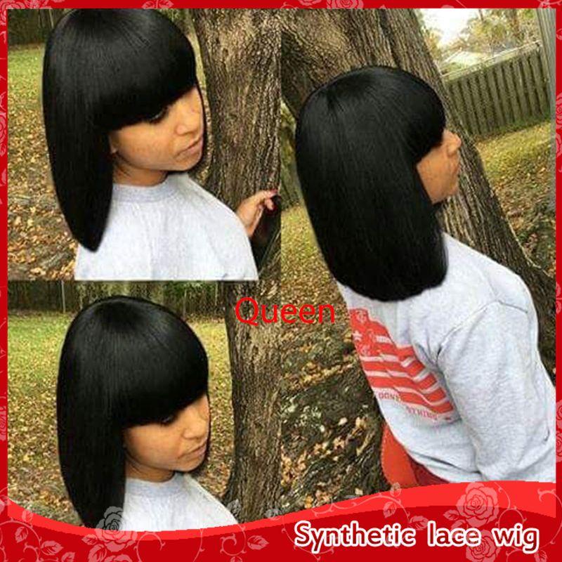 Wholesale Cute Black Short Straight Bob Wigs