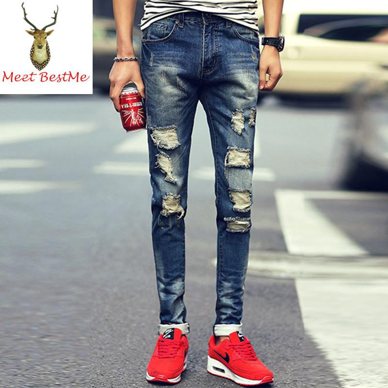 Best Wholesale 3 Style Ripped Jeans For Men Full Length
