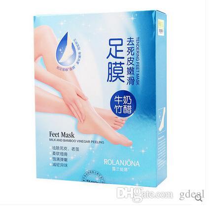 ROLANJONA Feet Mask Milk and Bamboo Vinegar Peeling Tendering Feet Mask Baby Foot Treatment Foot Mask