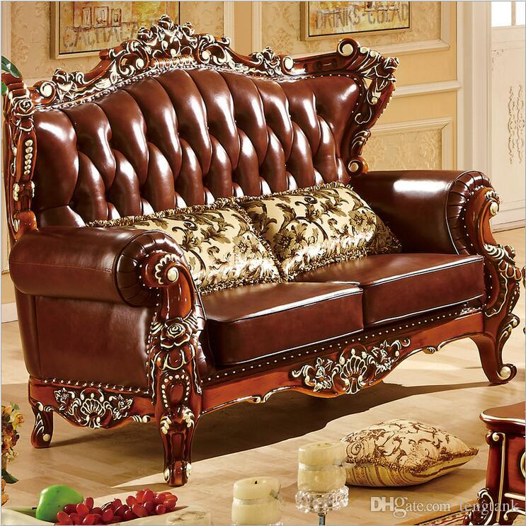 New Italian Creative Luxury Design Living Room Sofa, Ornate Back and  Fringes Design, Noble Button leahter Sofa couch 10301