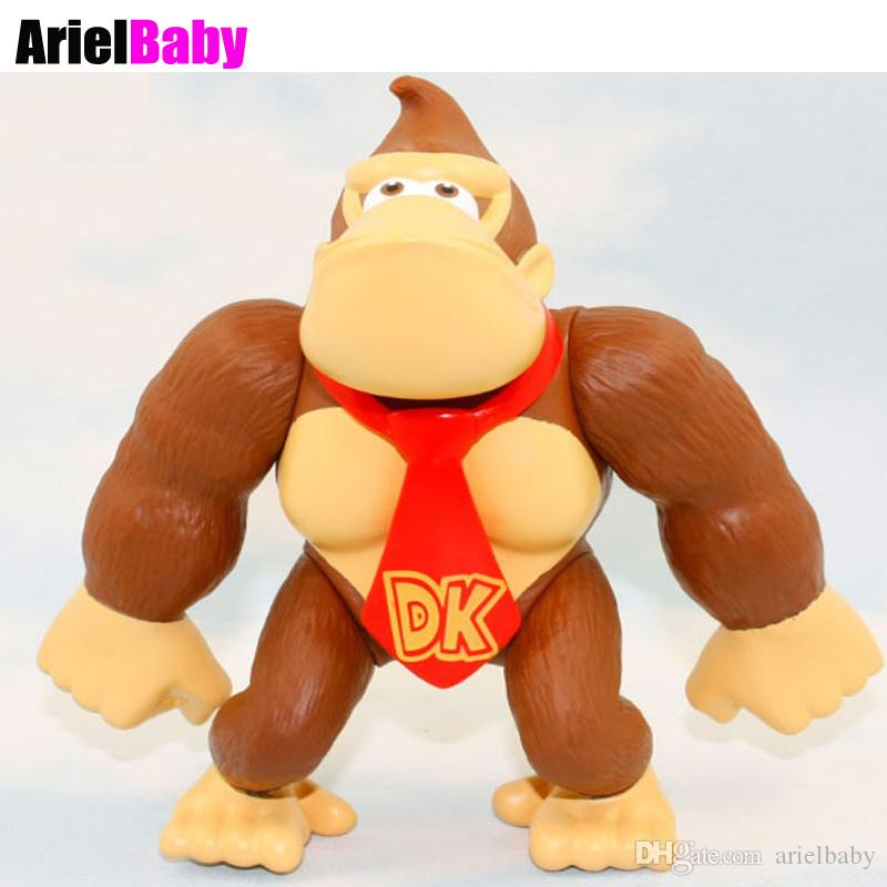 New Super Mario Bros Monkey Kong Monkey Action Figure Red Tie Japan Anime  Doll Kids Toys Approx 4