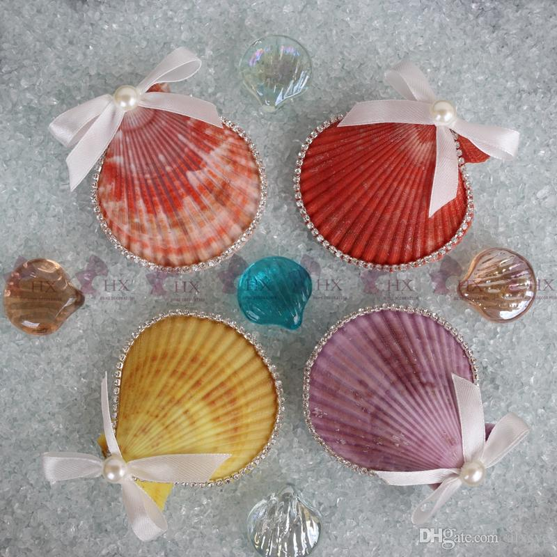 Boxsuper lovely colorful scallop gift box beach