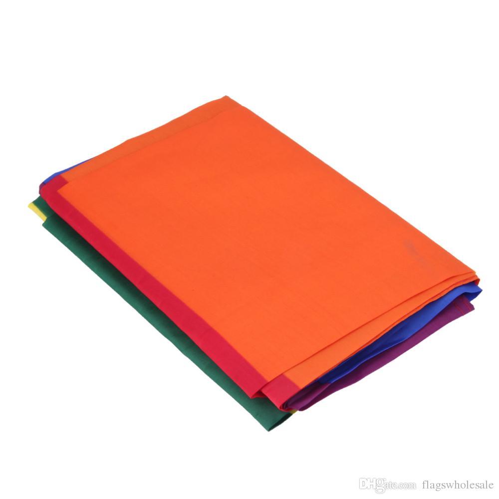 Arc-en-Drapeau 3x5FT 90x150 cm Lesbiennes Gay Pride Polyester LGBT Drapeau Bannière Polyester Coloré Arc-En-Drapeau Pour Décoration 3 X 5FT