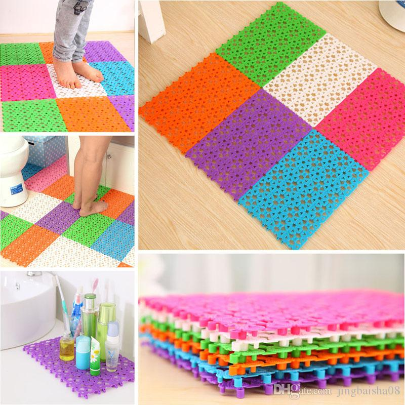 plastic bathroom carpet splice non slip kitchen rugs solid bathroom shower rugs and carpets puzzle floor drain water mat from - Bathroom Carpet