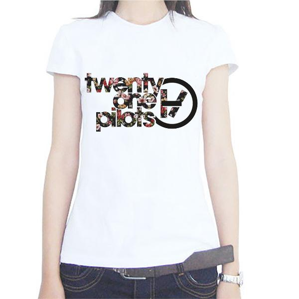 Wholesale Summer Rock Roll T Shirts Women Twenty One Pilots Fitness
