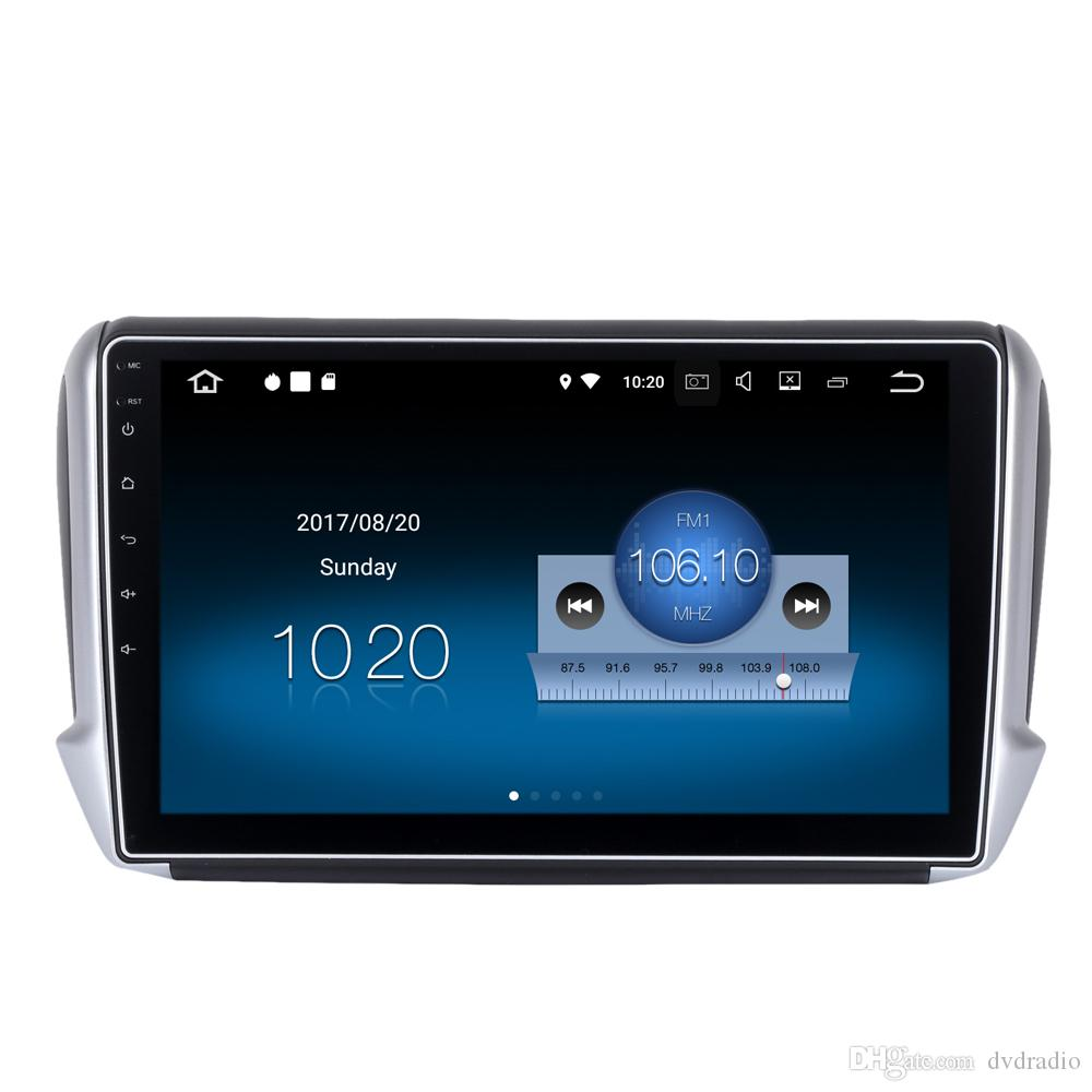 10 2 Android 7 1 Car DVD Recroder For Peugeot 208 2008 With 2G RAM Quad  Core GPS BT 4 0 WIFI 4G HDMI 4K Video OBD Mirror Screen RDS Radio