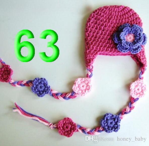 60 Flower Crochet Pattern Hat Baby Girl Winter Christmas Cap Gorgeous Baby Girl Crochet Patterns