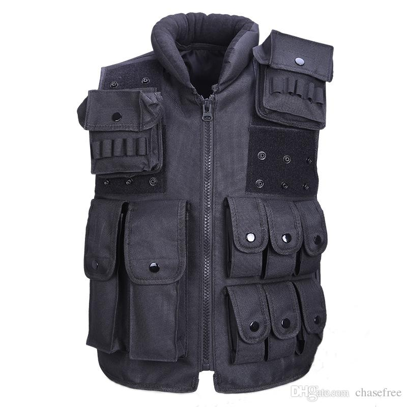 9aa2c262270 2019 Tactical Vest Cool Mens Hunting Vest Outdoor Training Military Army  Swat Vests Men Waistcoat Protective Magazine Pouch Black From Chasefree