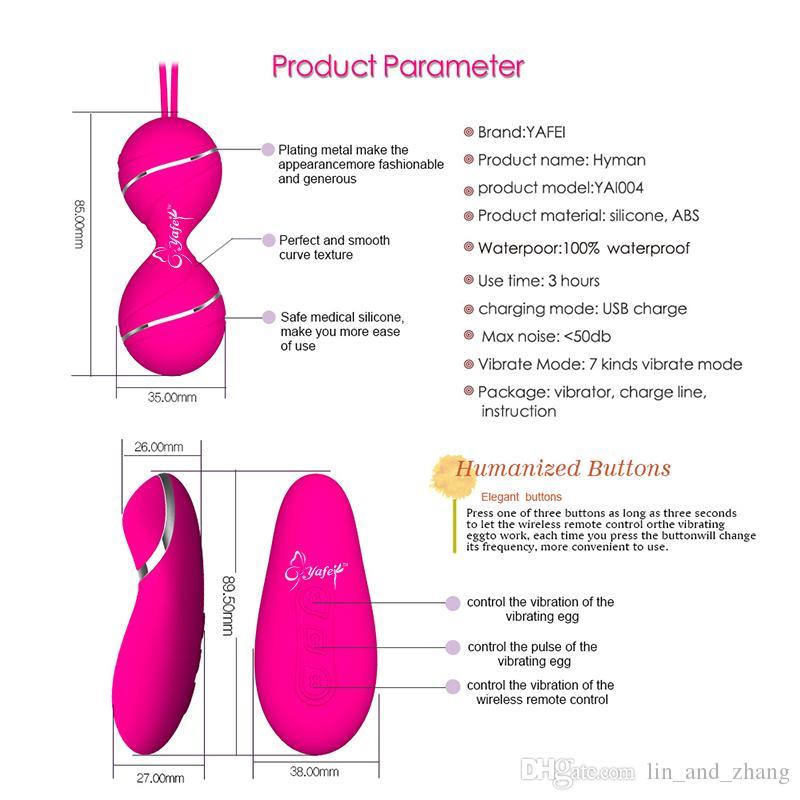 New silicone Kegel Balls Vaginal Tight exercise vibrating eggs remote control Geisha Ball ben Wa Balls Sex Products Sex Toys