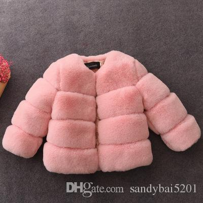 95e7e5785a0e8 Girl Fur Coat Jackets 2 10Year Kids Girls Faux Fur Coats 2018 Spring Winter  Infant Princess Warm Coat Outwear Children Clothing D218 Winter Coats Kids  Boys ...