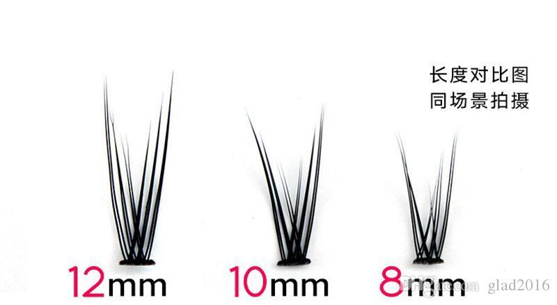 0.07mm Ultra Soft Nueva extensión de pestañas de visón individual 120root Knot Free Cluster Eye Lashes Herramienta de maquillaje natural