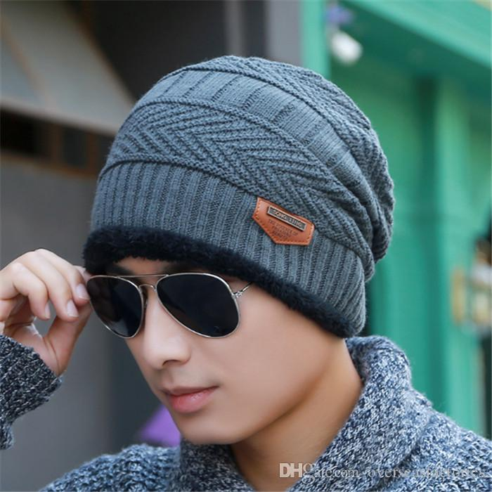 52eaa699e267f 2017 New Knitted Winter Hat Scarf Beanies Knit Men S Winter Hats Caps  Skullies Bonnet For Men Women Beanie Casual Neck Warmer Knit Hat Hats And  Caps From ...