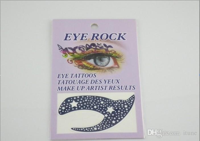10 конструкции Face Lace Eye Shadow наклейка Макияж Художественной маска Клубной вечеринка Косметика для лица Маски Глаза Временных татуировок