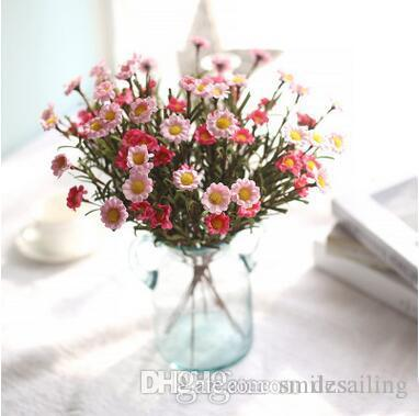 Gerbera Daisy Flower 8 Heads Silk Flowers Artificial Decorative For Home Wedding Market Decoration