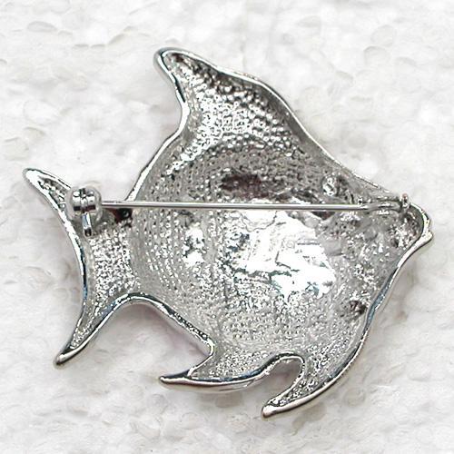 Wholesale Crystal Rhinestone Enamel Fish Brooch Fashion Costume Pin Brooch C218