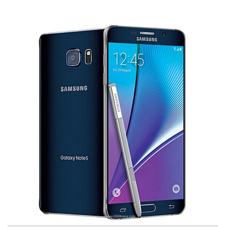 Smartphone originale Samsung Galaxy Note 5 N920A / T 4GB RAM 32GB ROM Android Smart da 5,7