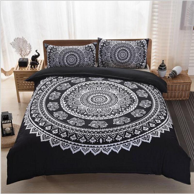 Großhandel Böhmen Stil Polyester Bedrucken Bettwäsche Set Duvet