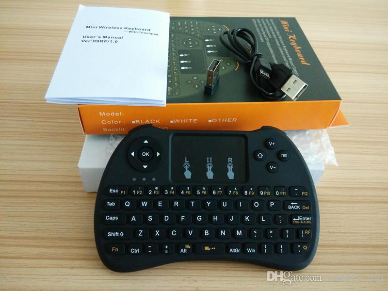 2.4GHz Wireless H9 Fly Air Mouse Mini tastiera QWERTY con Touch Pad Android TV Box Telecomando Controller Gamepad IPTV T95