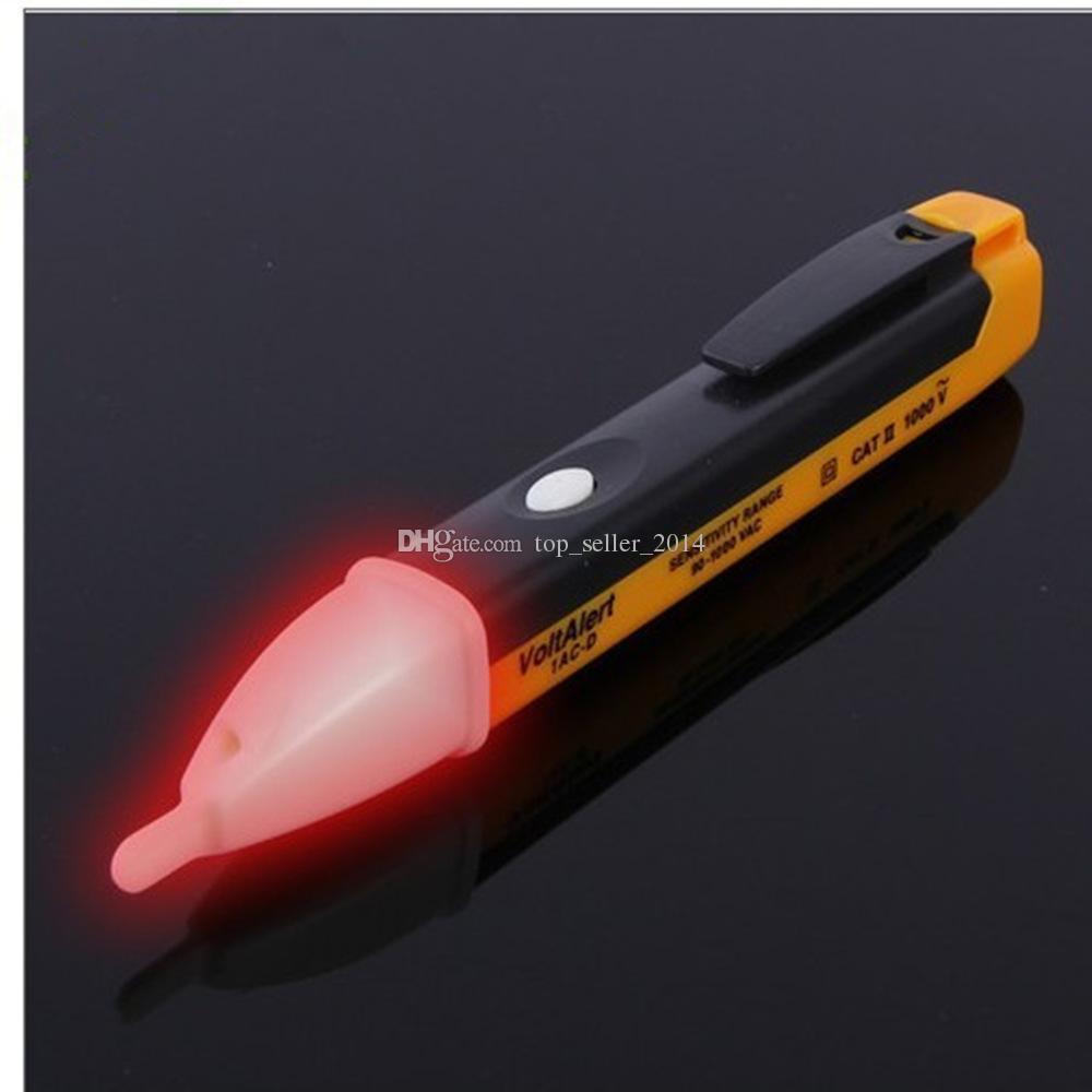 Alta qualità di trasporto libero di alta qualità dell'indicatore LED del rivelatore del sensore di allarme di tensione senza contatto della penna 90-1000V del tester di tensione di CA