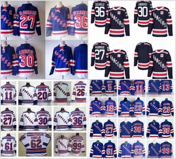 buy online c93b5 f0ab6 2018 Winter Classic New York Rangers 27 Ryan McDonagh Hockey Jerseys 36  Mats Zuccarello 61 Rick Nash 30 Henrik Lundqvist Navy Blue White