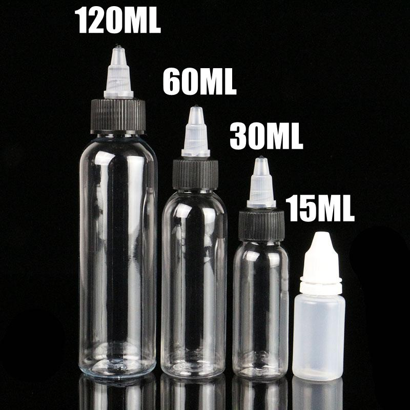 ade374297570 Wholesale-10PCS 15ML 0.5oz Tattoo Empty Ink Bottle Plastic Twist Cap Tattoo  Ink Pigment Clear Bottle Supply For Tattoo Ink Free Shipping