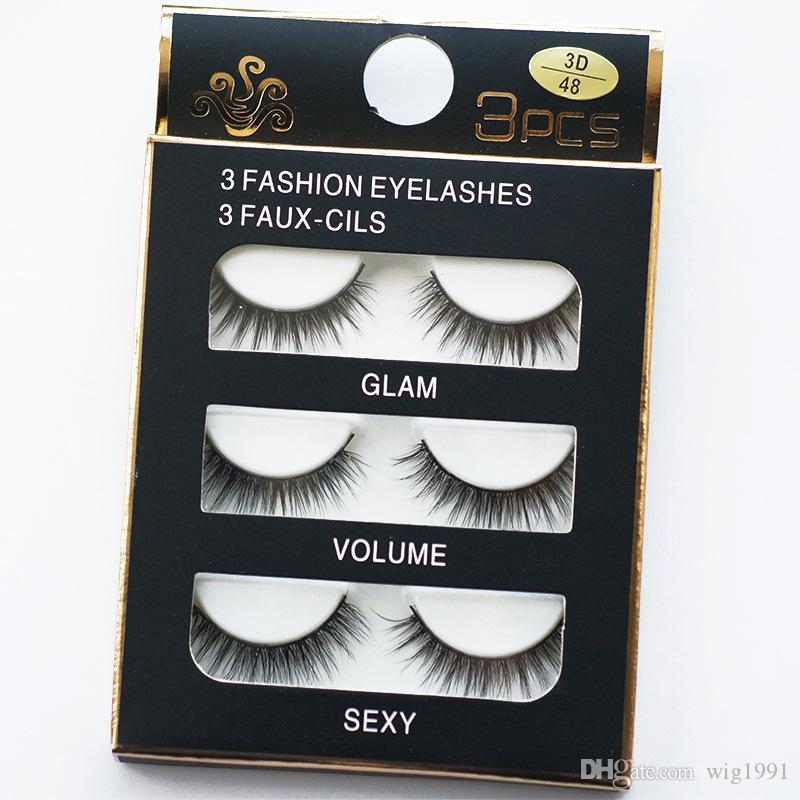 3 пары 3Д макияж ручной мода длинные ресницы мягкие ресницы женщины макияж инструменты красоты