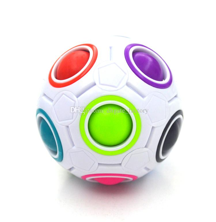 Rainbow Ball Magic Cube Speed Football Fun Creative Spherical Puzzles Kids Educational Learning Toys games for Children Adult Gifts