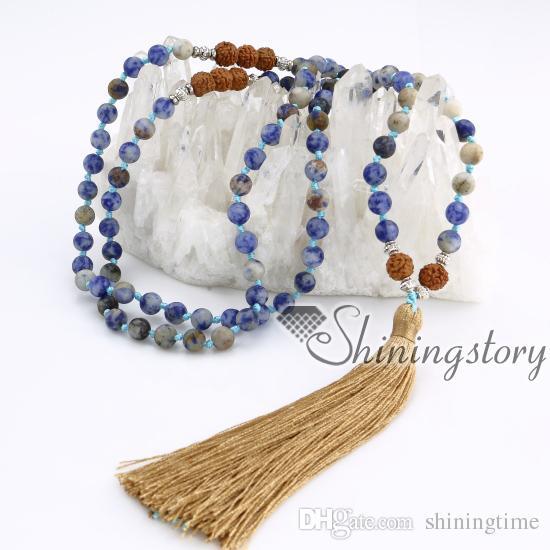 108 mala perles collier en gros malas perlé gland collier moine mantra chantant zen perles yoga bijoux gros chapelet bouddhiste