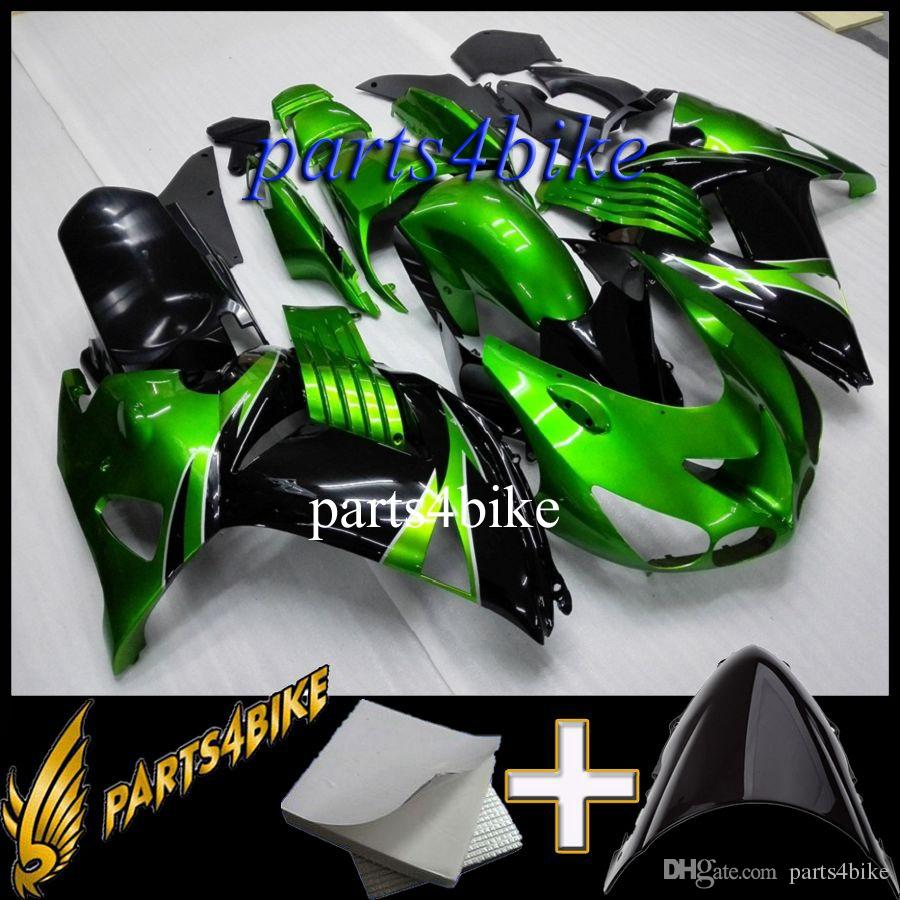 ABS Fairing for Kawasaki ZX14R 06 12 ZX-14R 2006 2012 06 07 08 09 10 11 12 green black Aftermarket Plastic Body Kit