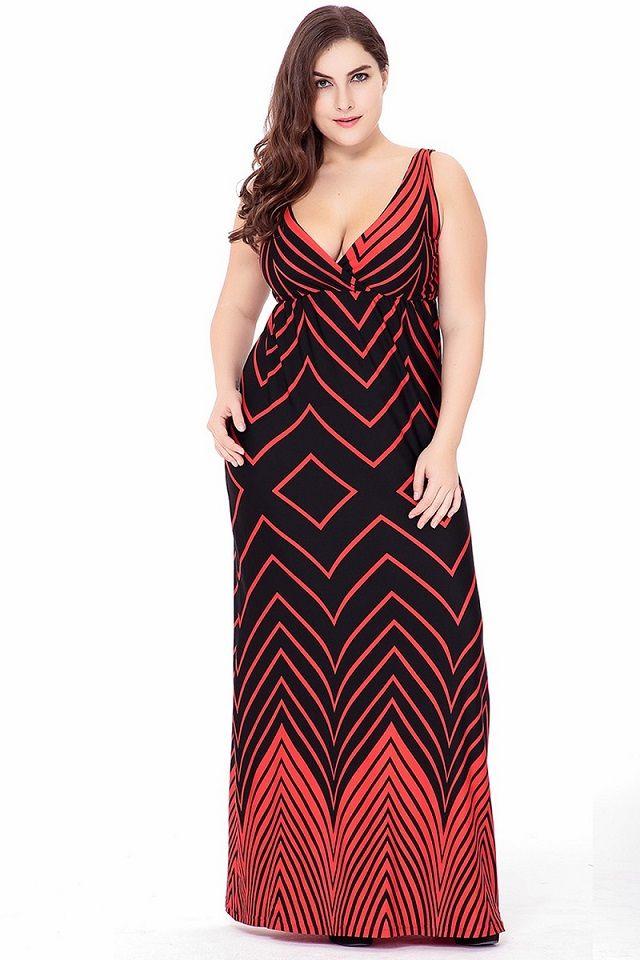 fa9c3f391e8 Plus Size 2018 Spring Women Long Dress Geometric Printing Maxi Long Dress V  Neck Sleeveless Boho Long Dresses Elegant Holiday Dre Black Dress Womens ...