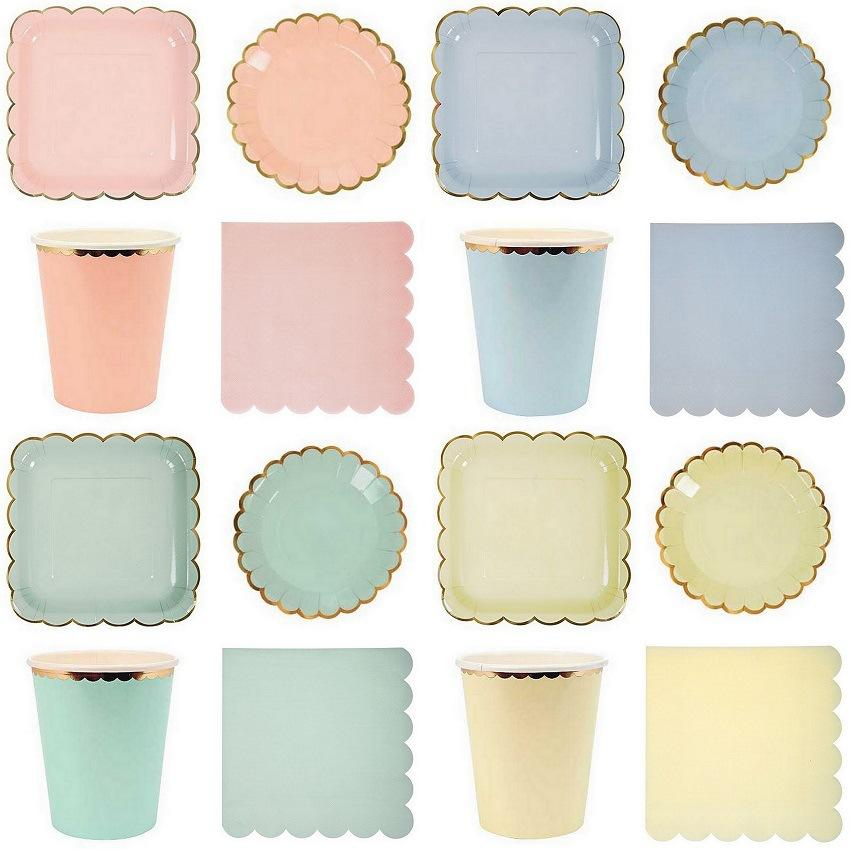 Best Wholesale Candy Color Dinner Paper Plates Party Supply Foil Scalloped Pastel Plates With Gold Foil Party Decor Supplies Tableware Cp060 Under $20.97 ...  sc 1 st  DHgate.com & Best Wholesale Candy Color Dinner Paper Plates Party Supply Foil ...