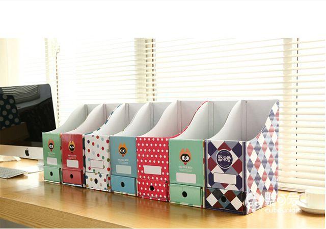 office desktop storage. wholesale- cute desktop storage box paper korea creative office desk file shelf bookcase online with