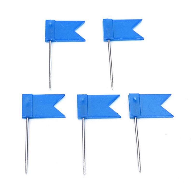 Plastic Map Label Nail Bulk kleine Flagge Tack Pins markieren Zeichnungen Symbol Banner Reißzwecke weiß gelb blau mehrere Farben erhältlich