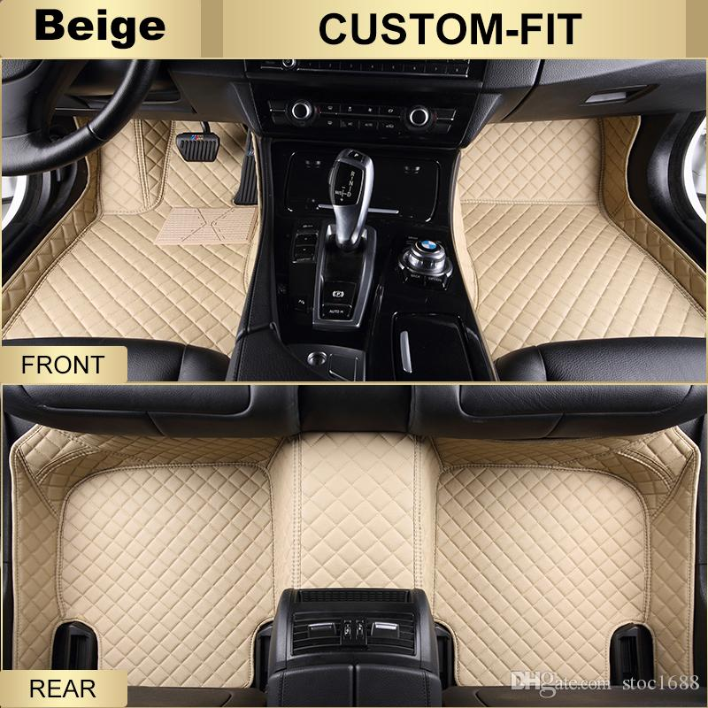 SCOT Custom Fit Leather Car Floor Mats for Acura MDX All Weather Waterproof Anti-slip 3D Front & Rear Carpets Right-Hand-Driver-Model