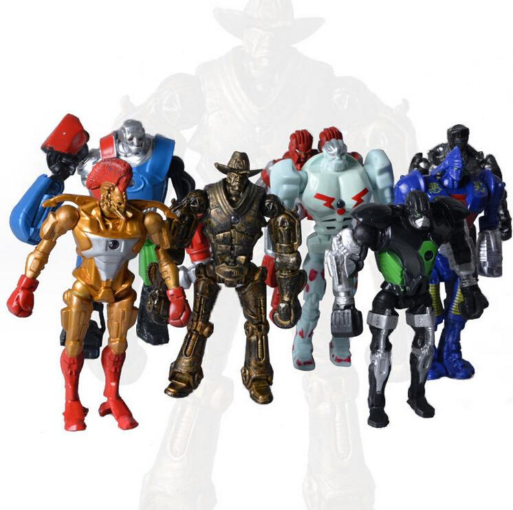 2019 2017 Hot Sell 8x Real Steel Toy Figures Atom Midas
