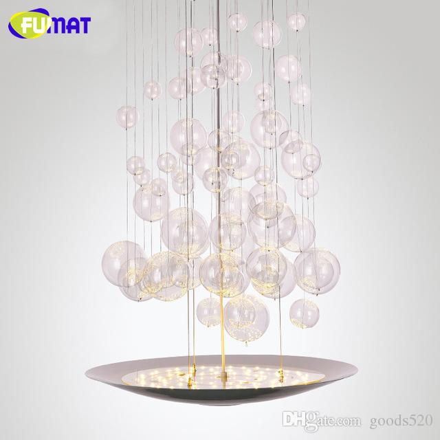 Fumat stairs chandelier modern led bubble light fixtures designer fumat stairs chandelier modern led bubble light fixtures designer hotel hanging lamps dinning room glass bubble chandelier light pendent lights pendant aloadofball Choice Image