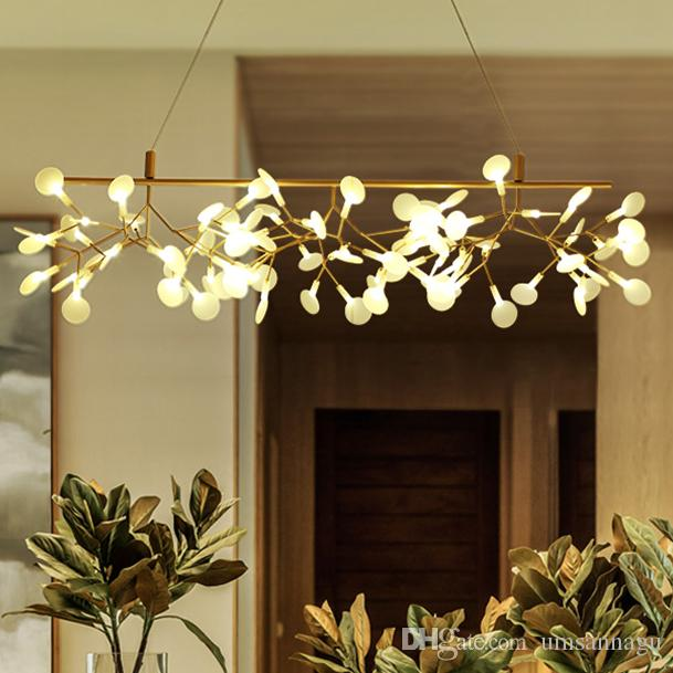 Modern Pendant Lights Fixture Led Firefly Branch Hanging Lamps Home Indoor Lighting European Dining Room Restaurant Cafe Light 110cm