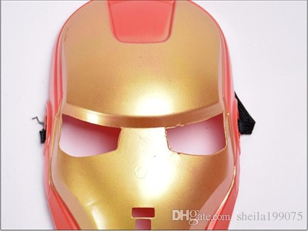 Máscara de hombre de hierro superventas niño máscara de dibujos animados niños máscara cosplay PVC