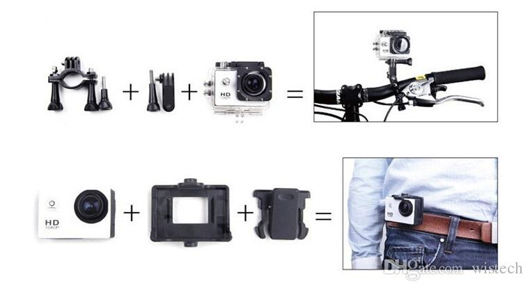 HD camera, SJ7000 HD1080P, outdoor sports, Action camera, mini waterproof aerial camera, digital camera comes with 2 inch LCD display