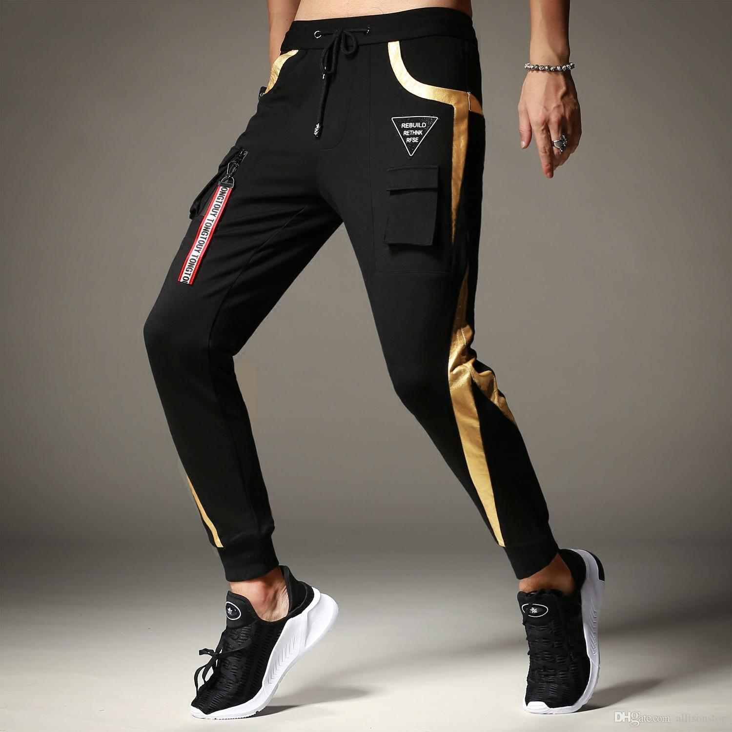 0efffbecd7 2019 New Arrival Mens Causal Pants Sports Thick Personality Slim Fit Boys  Trousers Harlan Athletic Hip Hop Sweatpants OVERSIZE M 4XL Loose Long From  ...