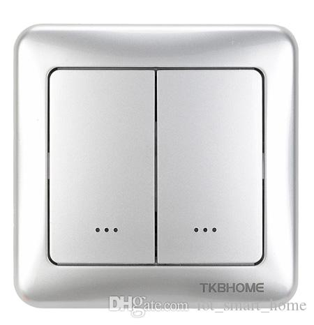WiFi Android iOS controlled Z-Wave plus 500 series single relay dual paddle dimmer wall switch TZ55D for smart home