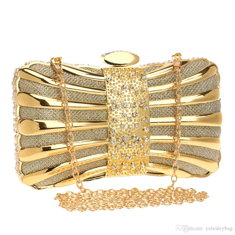 Crystal Clutch Purse Rhinestone Clutch Evening Bag Chain Shoulder Clutches Evening Bags Diamonds Tin Evening Bag For Wedding Handbags