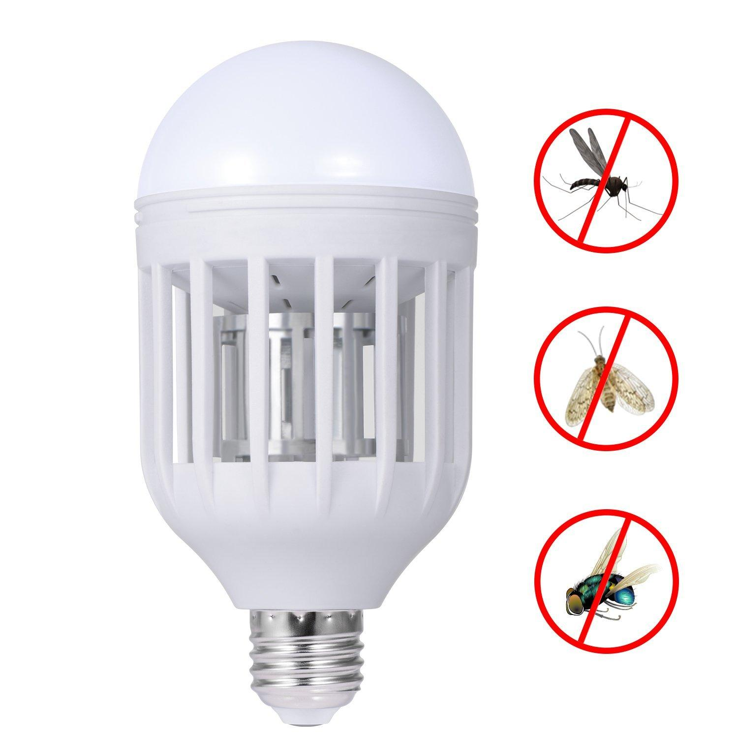 Electronic Mosquito Insect Killer Bug Zapper Light Bulb Fits In 110v