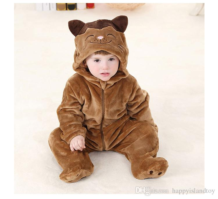 0ed9600b7 2019 New Arrivals Spring Autumn Thick Children Animal Rompers 1 3 ...