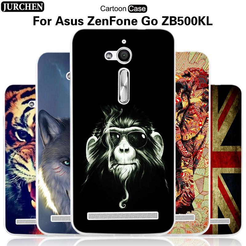 online store b0cab 9c27e Wholesale- JURCHEN Case For Asus Zenfone GO ZB500KL ZB500KG Case Cute  Cartoon Soft Silicone Back Cover For Asus Zenfone ZB500KL Cover