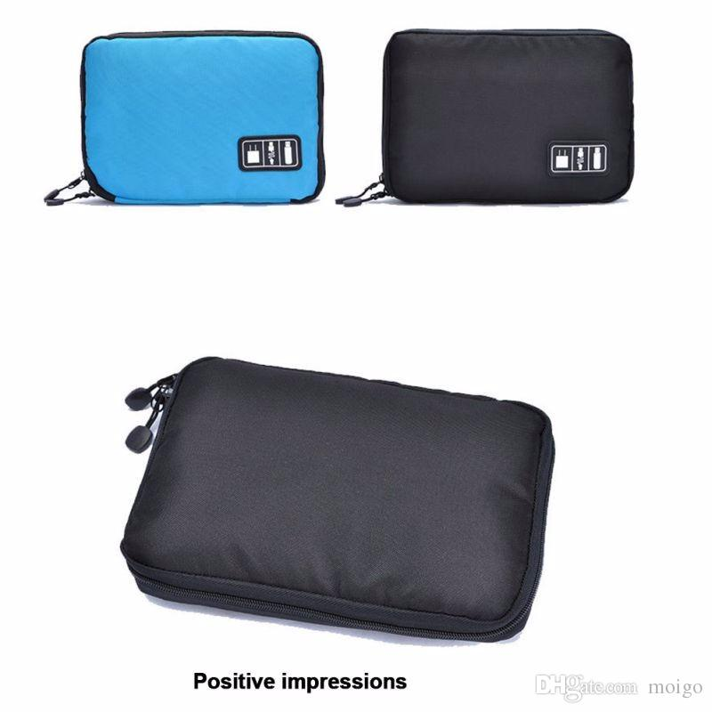 Electronic Accessories Bag For Hard Drive Organizers For Earphone Cables USB Flash Drives Travel Case Digital Storage Bag LKT075