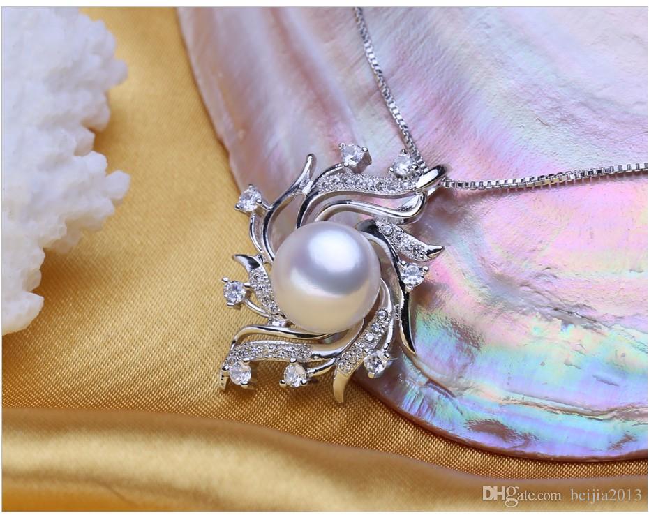 Böhmische Anhänger Halskette Perlenkäfig Halsketten Mode Retro Frauen Natürliche FS51W
