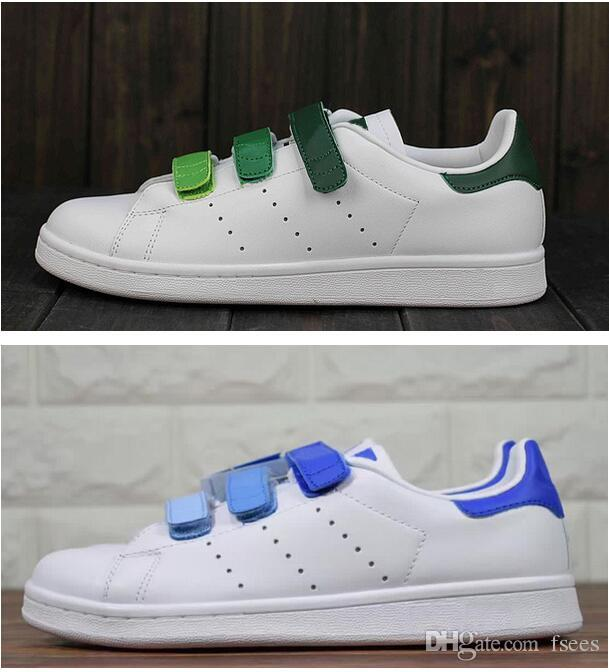 new concept 1c4c4 cc36d Hot sell Classic style Stan Smith Shoes men women Athletic Shoes 36-44  White color musial magic button Stan Smith Skateboarding Shoes
